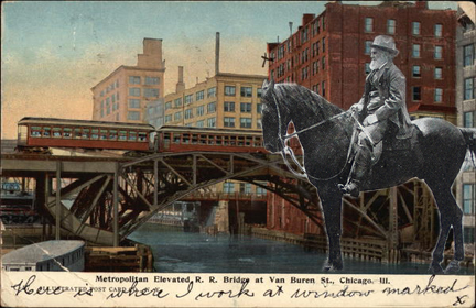Metropolitan Elevated RR Bridge at Van Buren Street Chicago